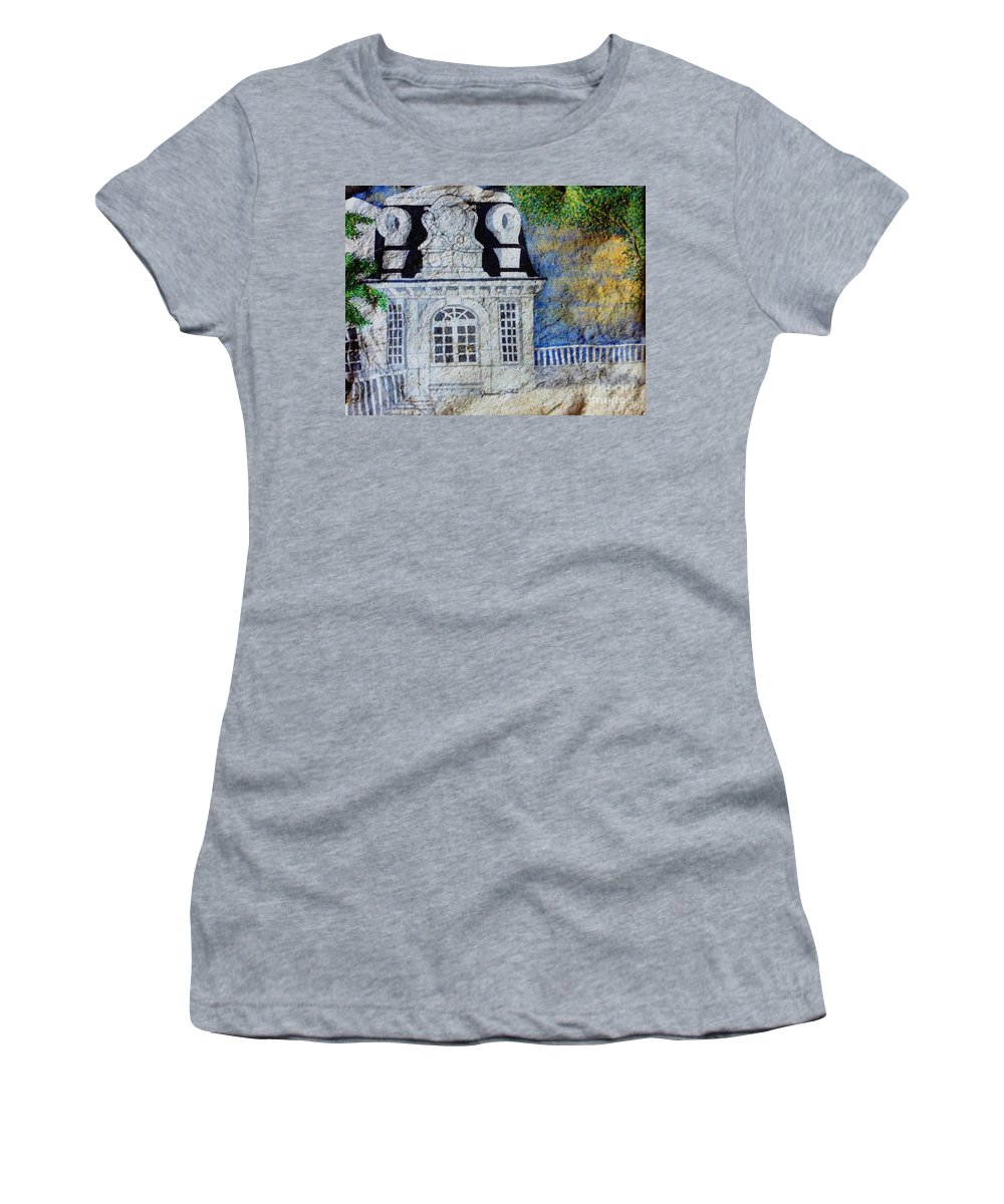 Nature Women's T-Shirt featuring the painting Rooftop by JL Vaden