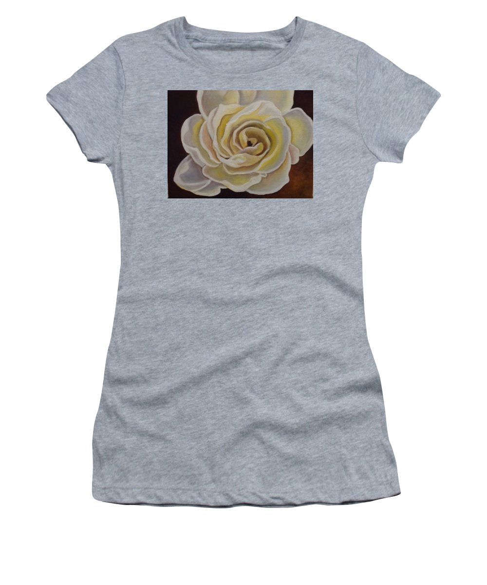 Rose Women's T-Shirt featuring the painting Rose by Laurine Baumgart