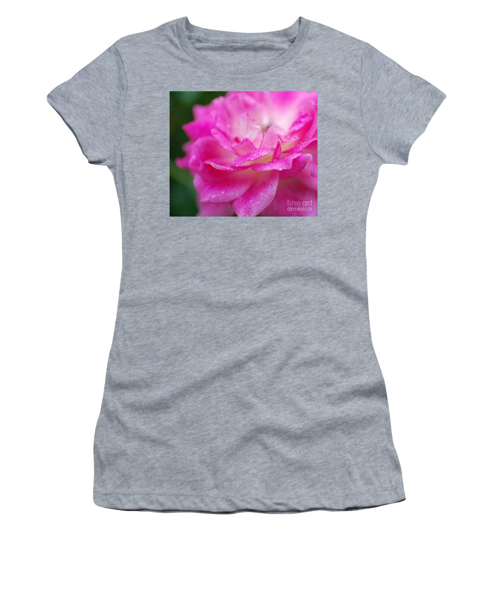 First Star Art Women's T-Shirt (Athletic Fit) featuring the photograph Rose Pink by First Star Art
