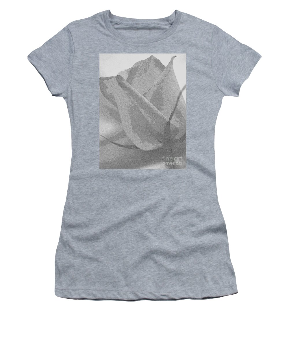 Flowers Women's T-Shirt featuring the digital art Rosebud Sketch No 2 by Mary Deal