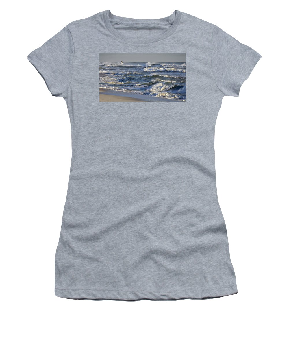 Florida Women's T-Shirt featuring the photograph Rough Surf by Bill Chambers