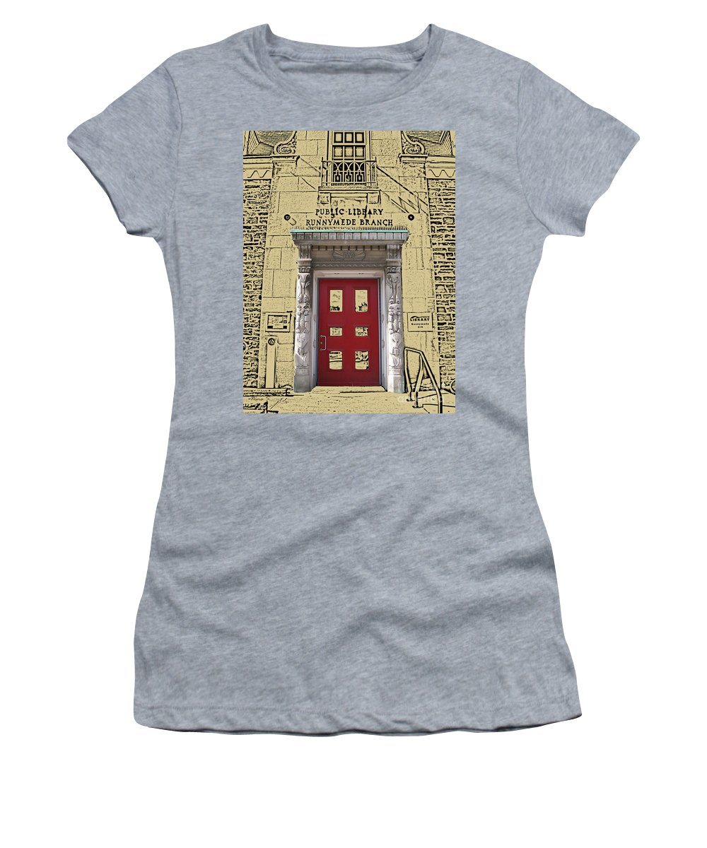 Toronto Women's T-Shirt featuring the photograph Runnymede Library by Nina Silver