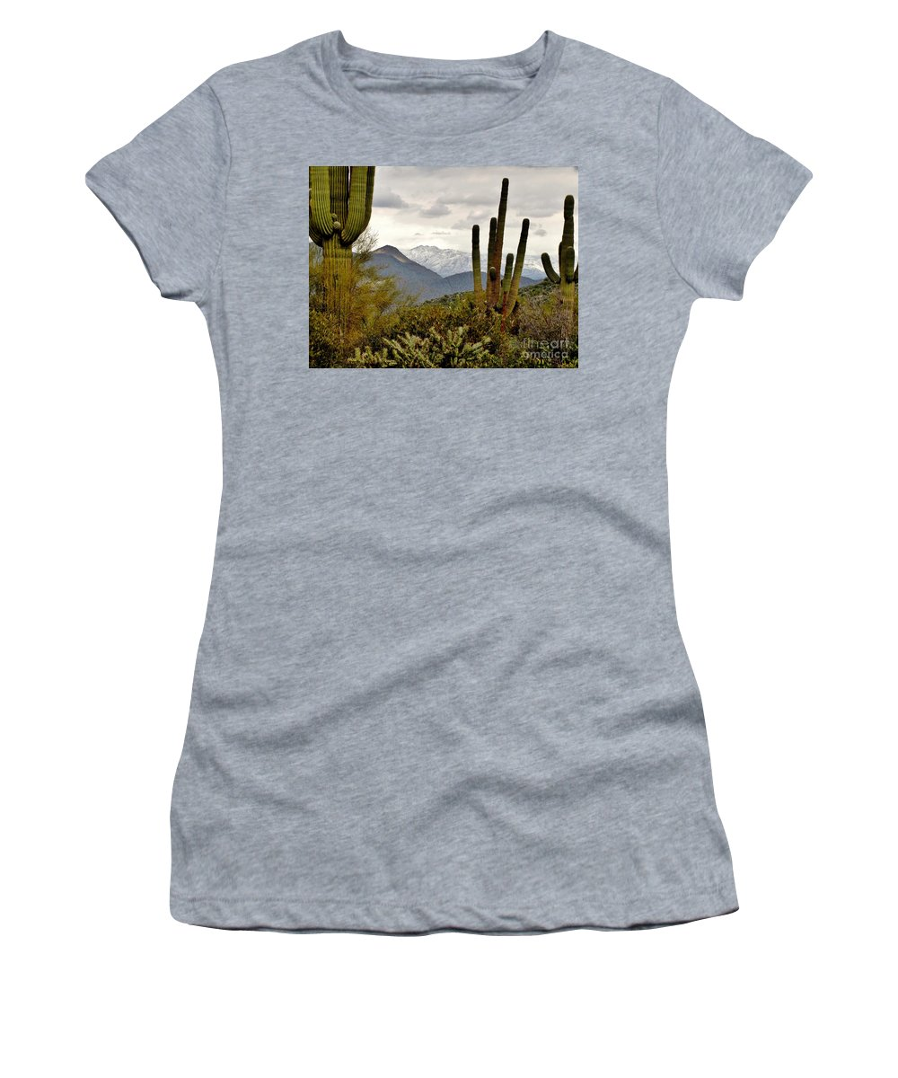 Saguaro Women's T-Shirt featuring the photograph Saguaro Sentinels by Marilyn Smith
