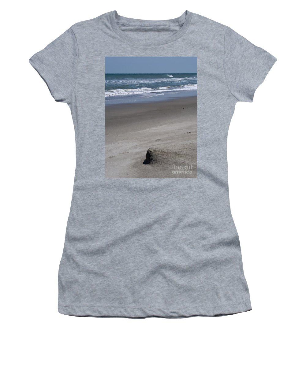 Sand Women's T-Shirt featuring the photograph Sand Mogul On Florida Beach by Allan Hughes