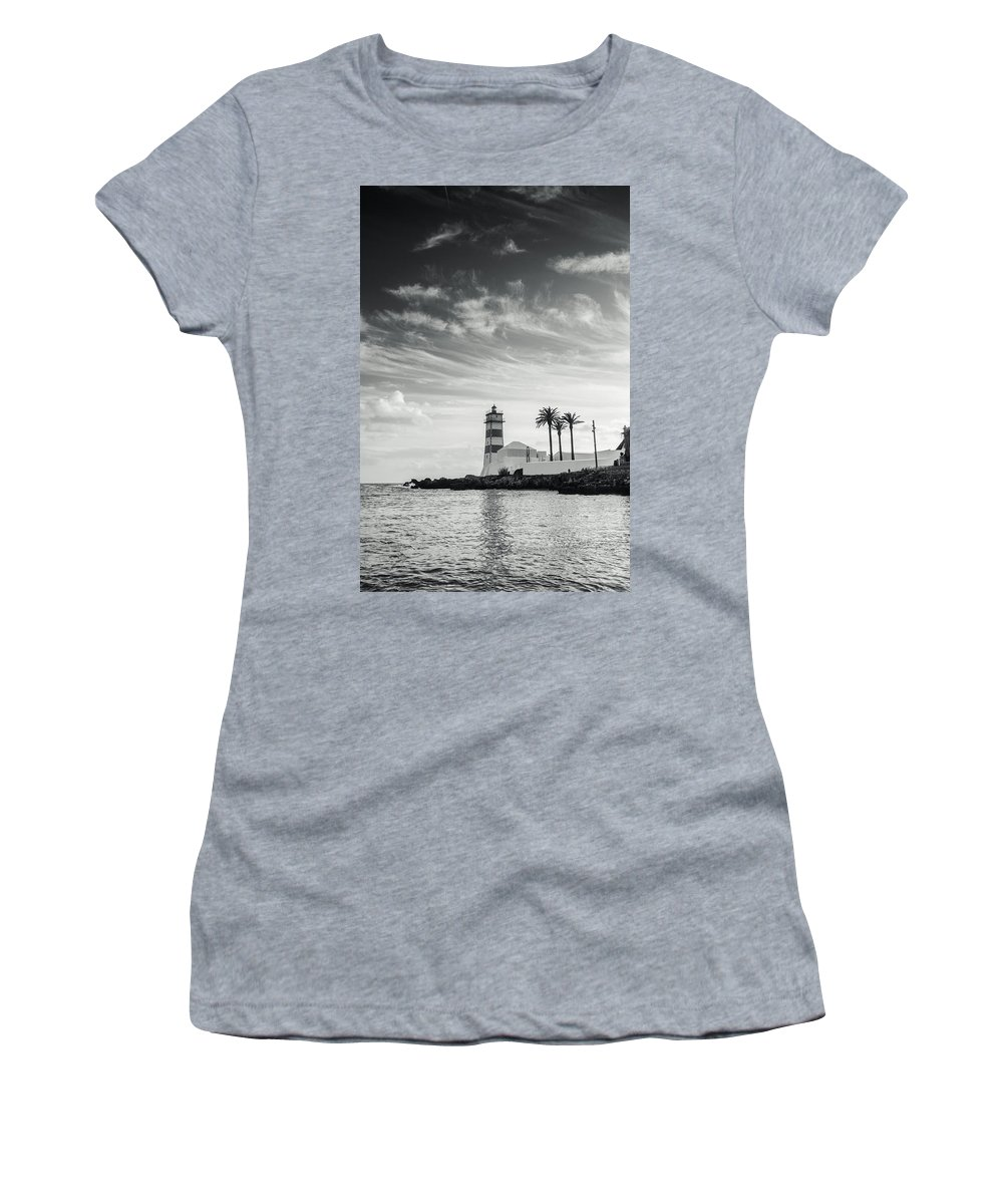 Lighthouse Women's T-Shirt featuring the photograph Santa Marta Lighthouse I by Marco Oliveira