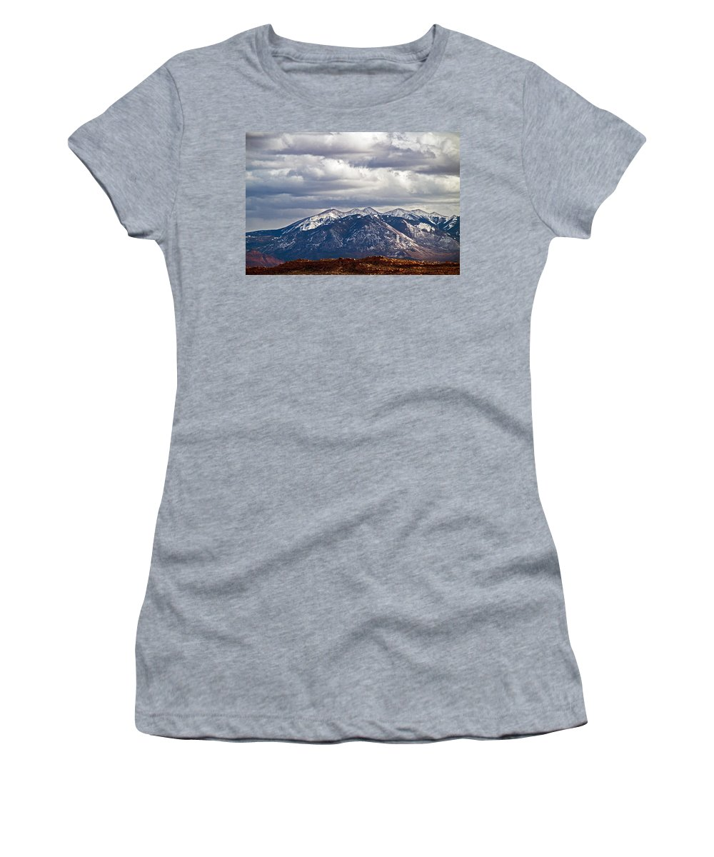 Mountains Women's T-Shirt featuring the photograph Scenic Moutains by David Campbell