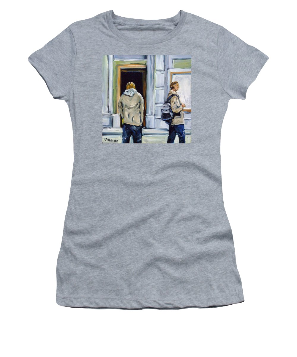 Urban Women's T-Shirt featuring the painting School Days by Richard T Pranke