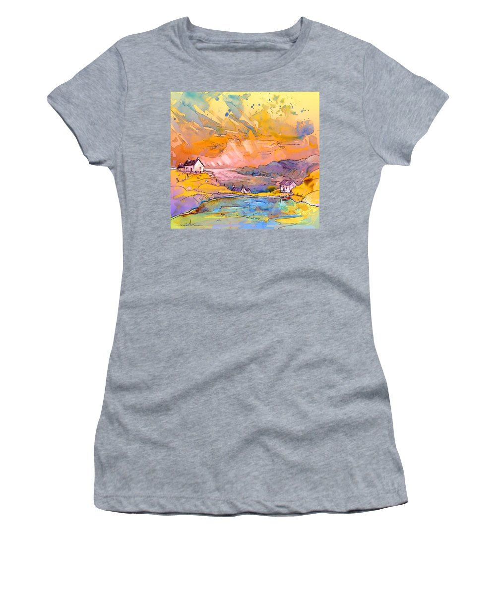 Scotland Women's T-Shirt (Athletic Fit) featuring the painting Scotland 27 Bis by Miki De Goodaboom