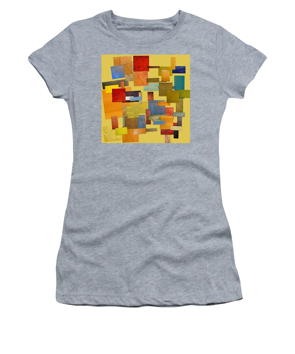 Textural Women's T-Shirt (Athletic Fit) featuring the painting Scrambled Eggs Lll by Michelle Calkins