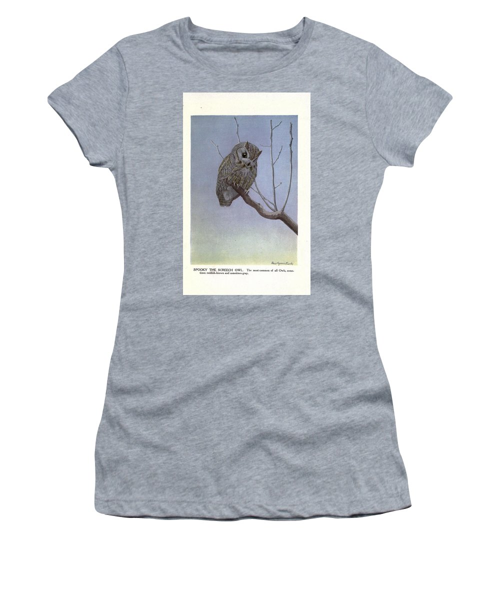 Screetch Women's T-Shirt featuring the painting Screech Owl by Philip Ralley