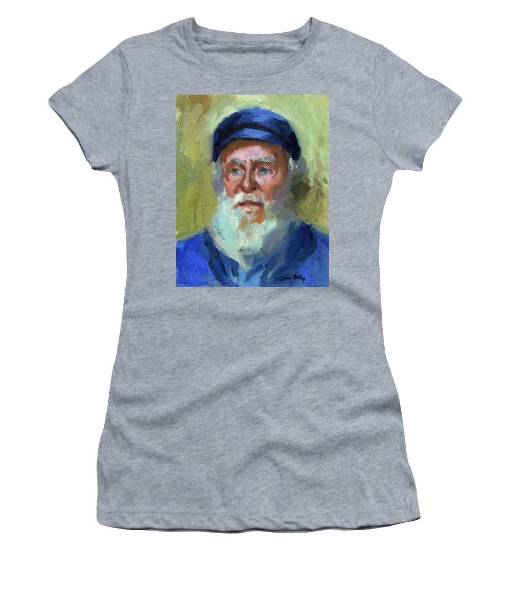 Ship Captain Women's T-Shirt featuring the painting Sea Captain 1 by Diane McClary