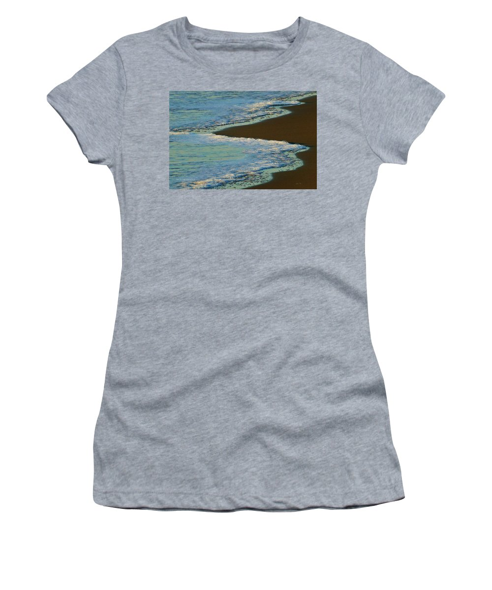Sea Foam Women's T-Shirt (Athletic Fit) featuring the photograph Sea Foam by Holly Dwyer