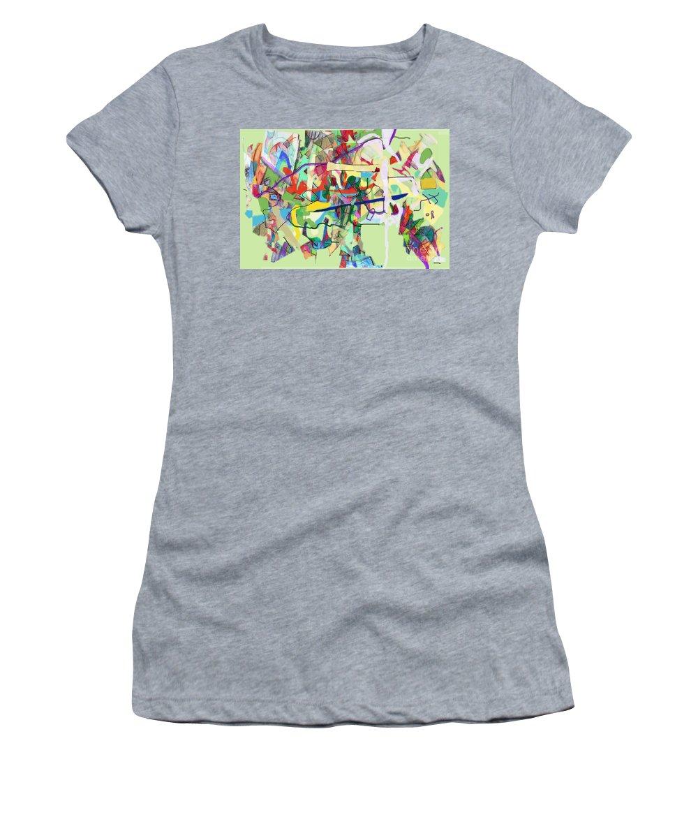 Torah Women's T-Shirt (Athletic Fit) featuring the digital art Seeker Being Sought 1d by David Baruch Wolk