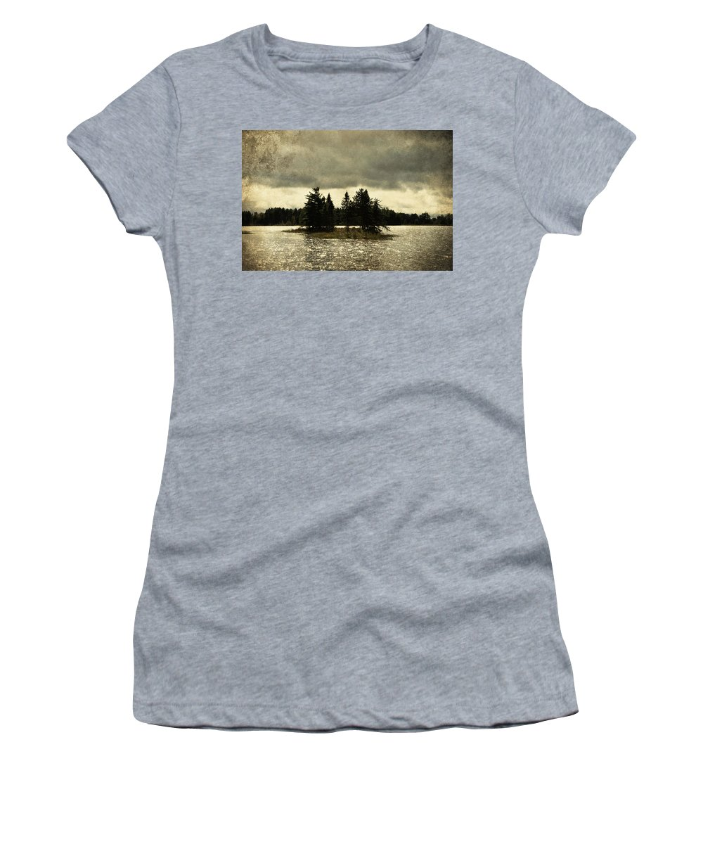 Evie Women's T-Shirt featuring the photograph Seney Coffee Black by Evie Carrier
