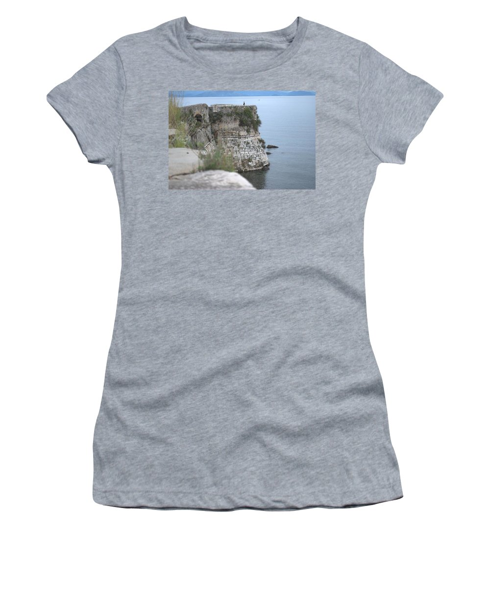 Corfu Women's T-Shirt featuring the photograph Sentinel On Duty by George Katechis