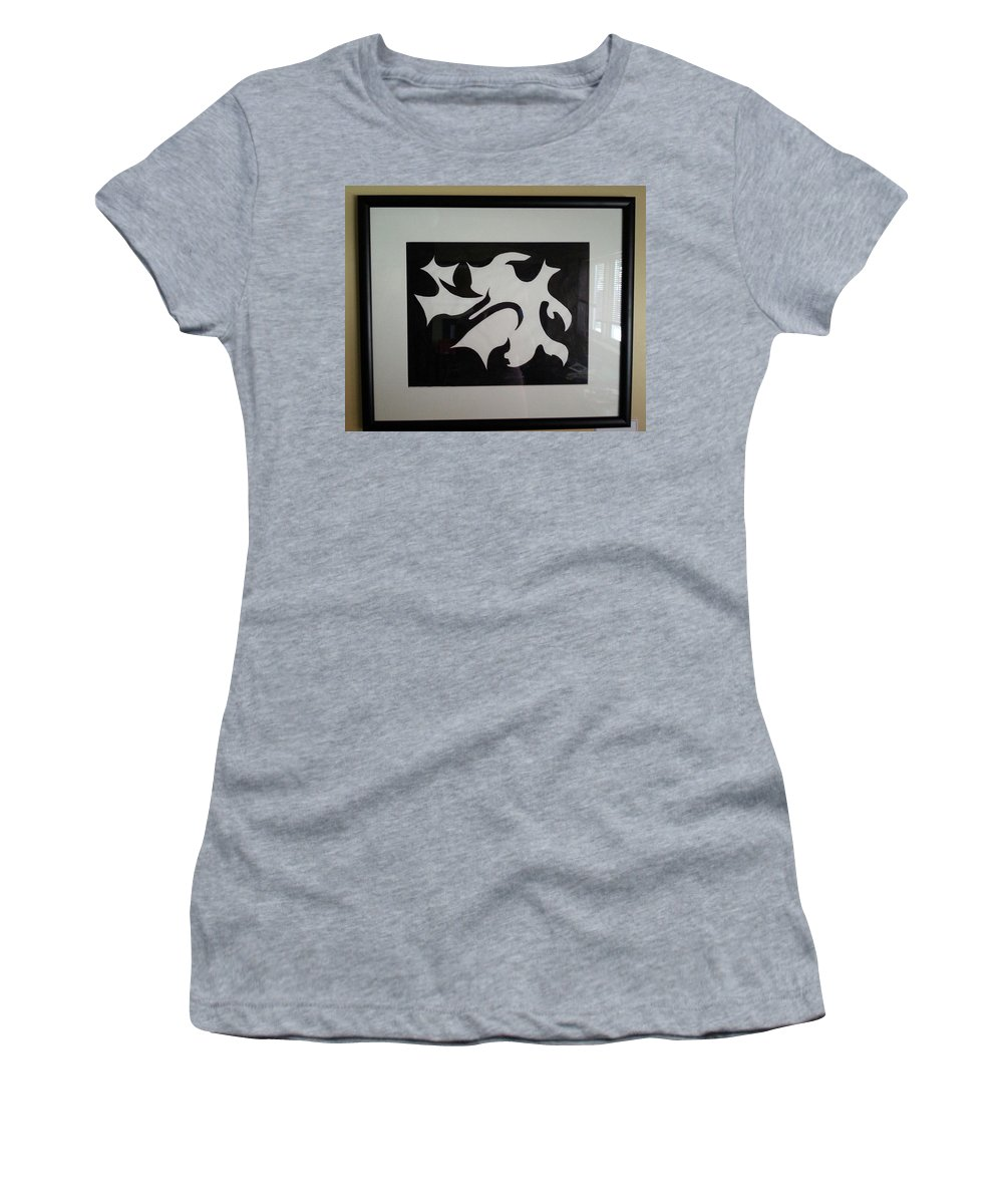 Framed Picture Women's T-Shirt featuring the painting Serenity by Myrtle Joy