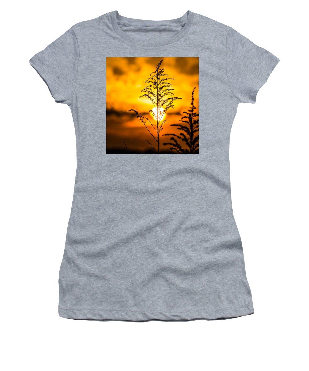 Sunset Women's T-Shirt featuring the photograph Setting Sun by Parker Cunningham