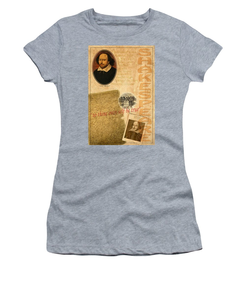 Shakespeare Women's T-Shirt featuring the photograph Shakespeare 2 by Andrew Fare