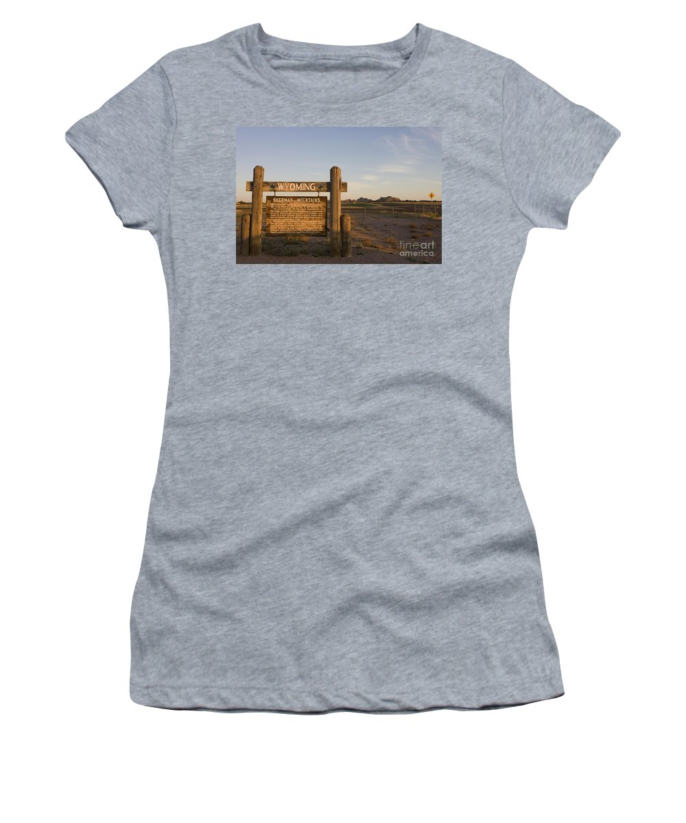 Wyoming Women's T-Shirt (Athletic Fit) featuring the photograph Sherman Mountains Wyoming by Jason O Watson