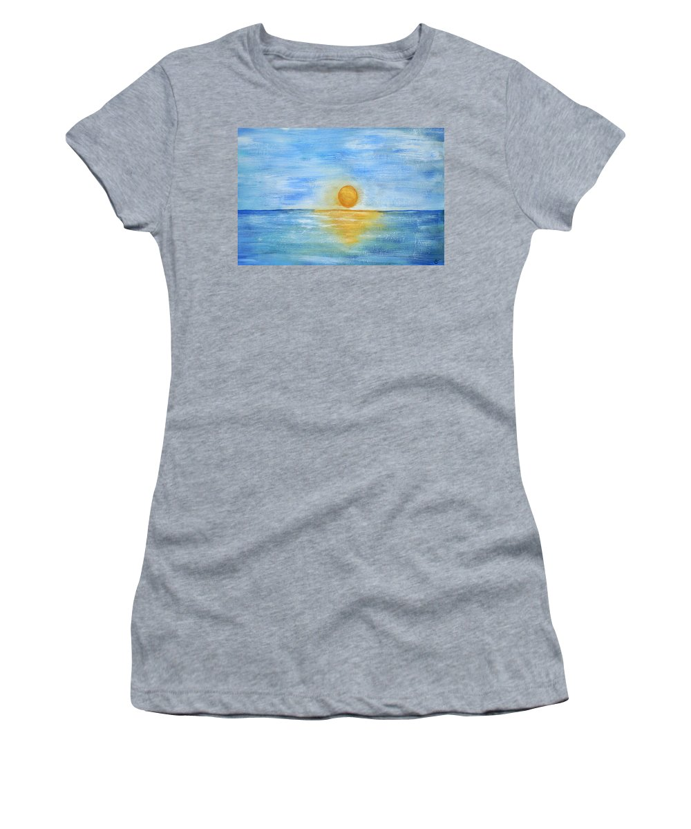 Acrylic Painting Women's T-Shirt featuring the painting Shine On by Sherry Allen