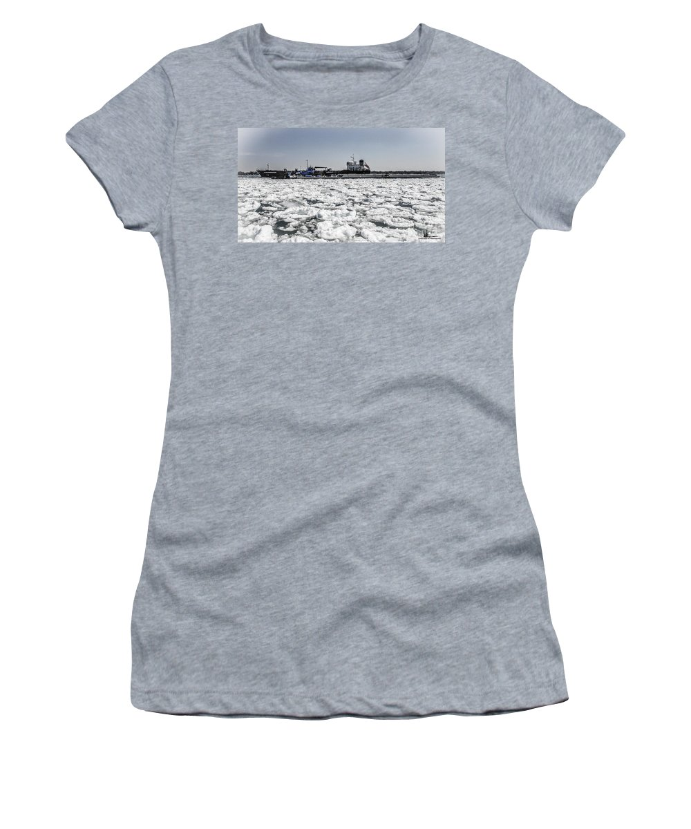 Sloman Herakles Women's T-Shirt (Athletic Fit) featuring the photograph Shipping Season Has Started by Grace Grogan