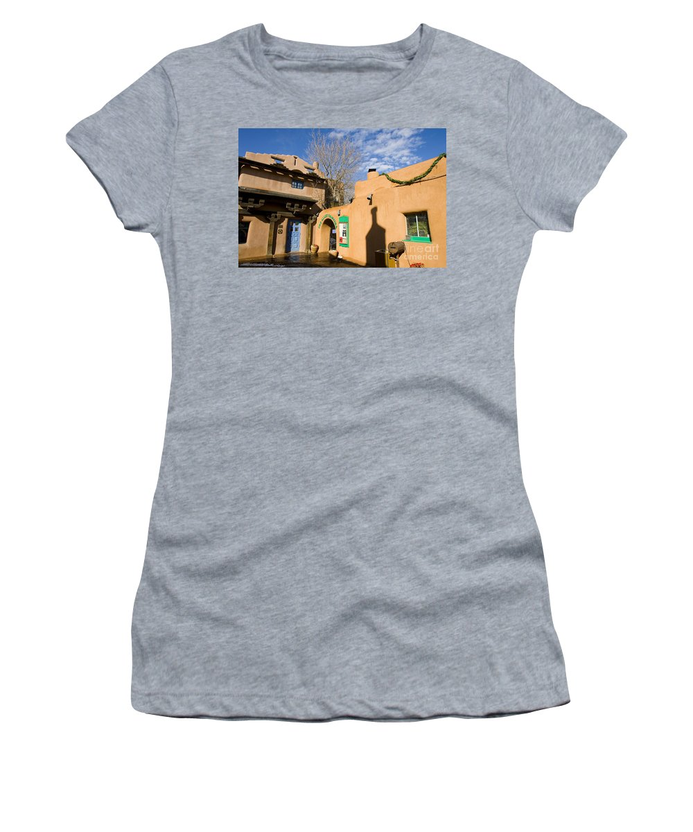 Santa Fe Women's T-Shirt featuring the photograph Shops At Santa Fe New Mexico by Jason O Watson