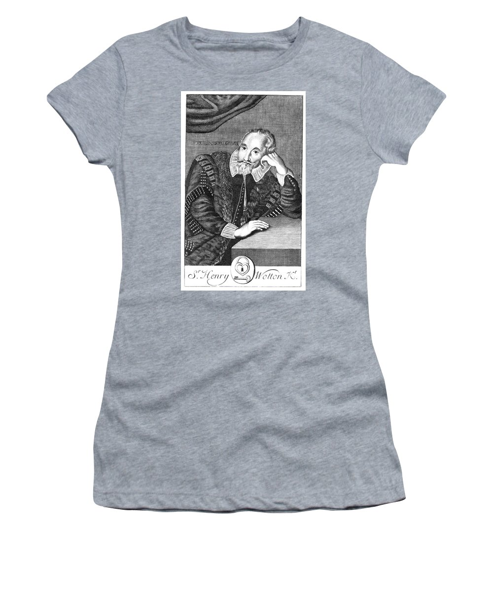 16th Century Women's T-Shirt (Athletic Fit) featuring the painting Sir Henry Wotton (1568-1639) by Granger