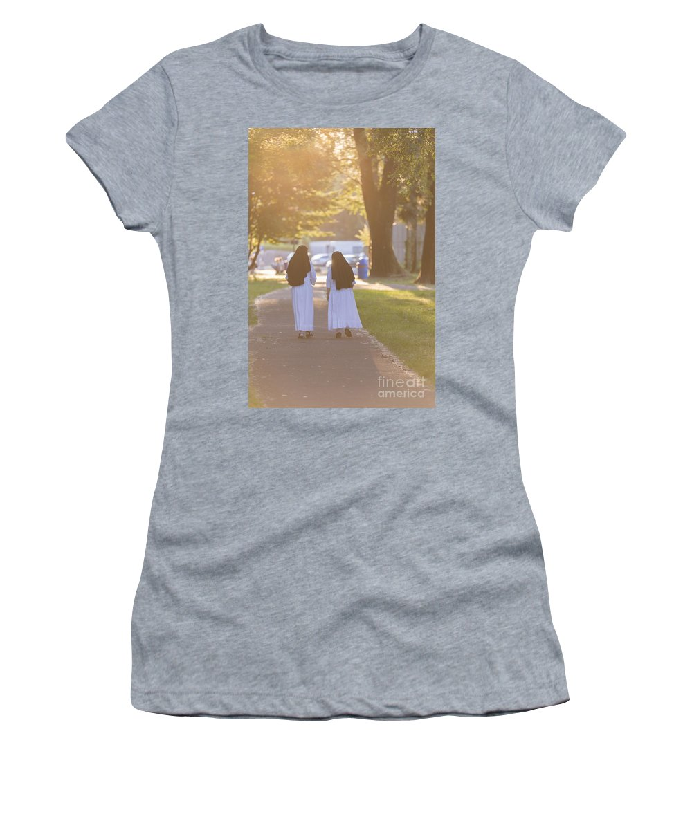 Sisters Women's T-Shirt featuring the photograph Sisters by Mats Silvan