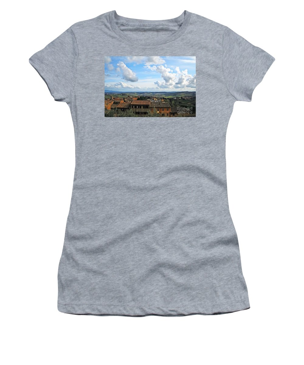 Travel Women's T-Shirt featuring the photograph Sky Over Tuscany by Elvis Vaughn