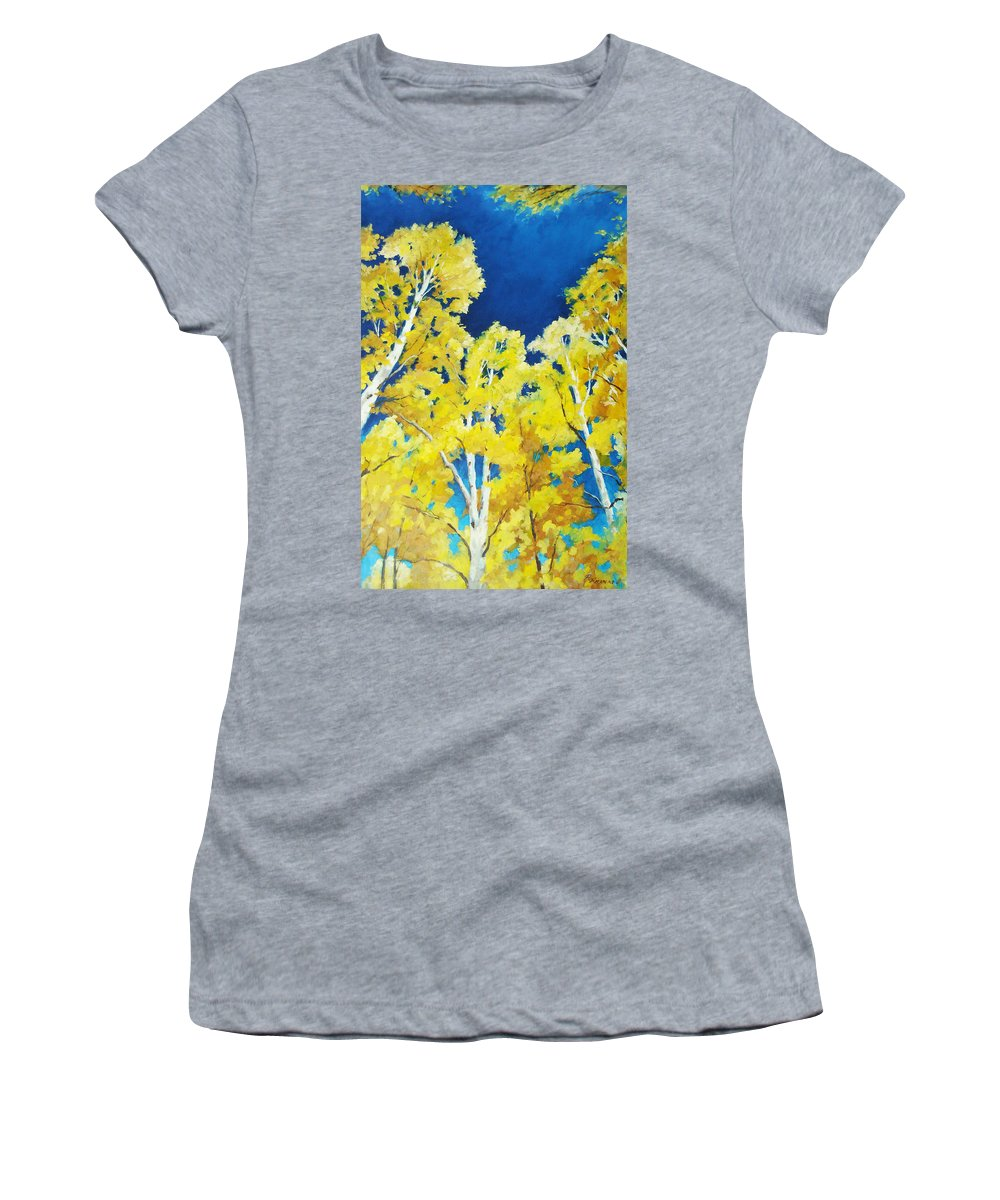 Sky Women's T-Shirt (Athletic Fit) featuring the painting Skyward by Richard T Pranke