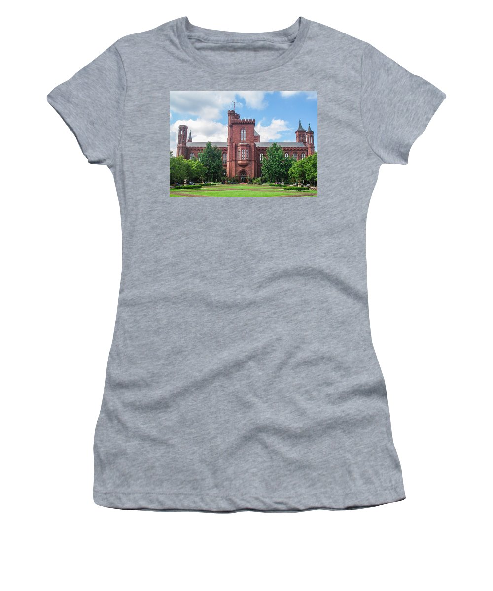 Smithsonian Women's T-Shirt featuring the photograph Smithsonian Castle by J Allen