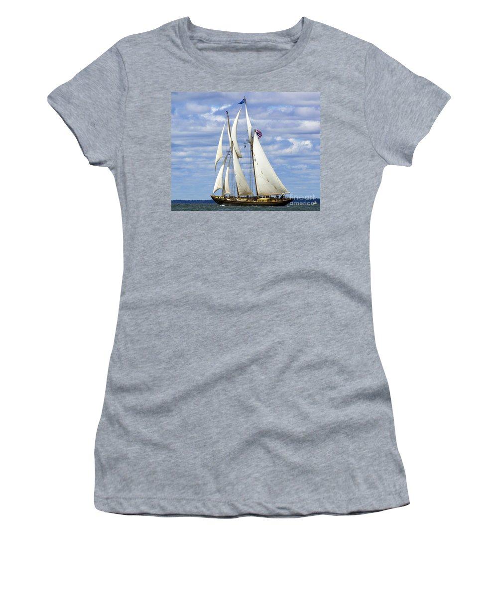 Schooner Women's T-Shirt featuring the photograph Smooth Sailing by Joe Geraci