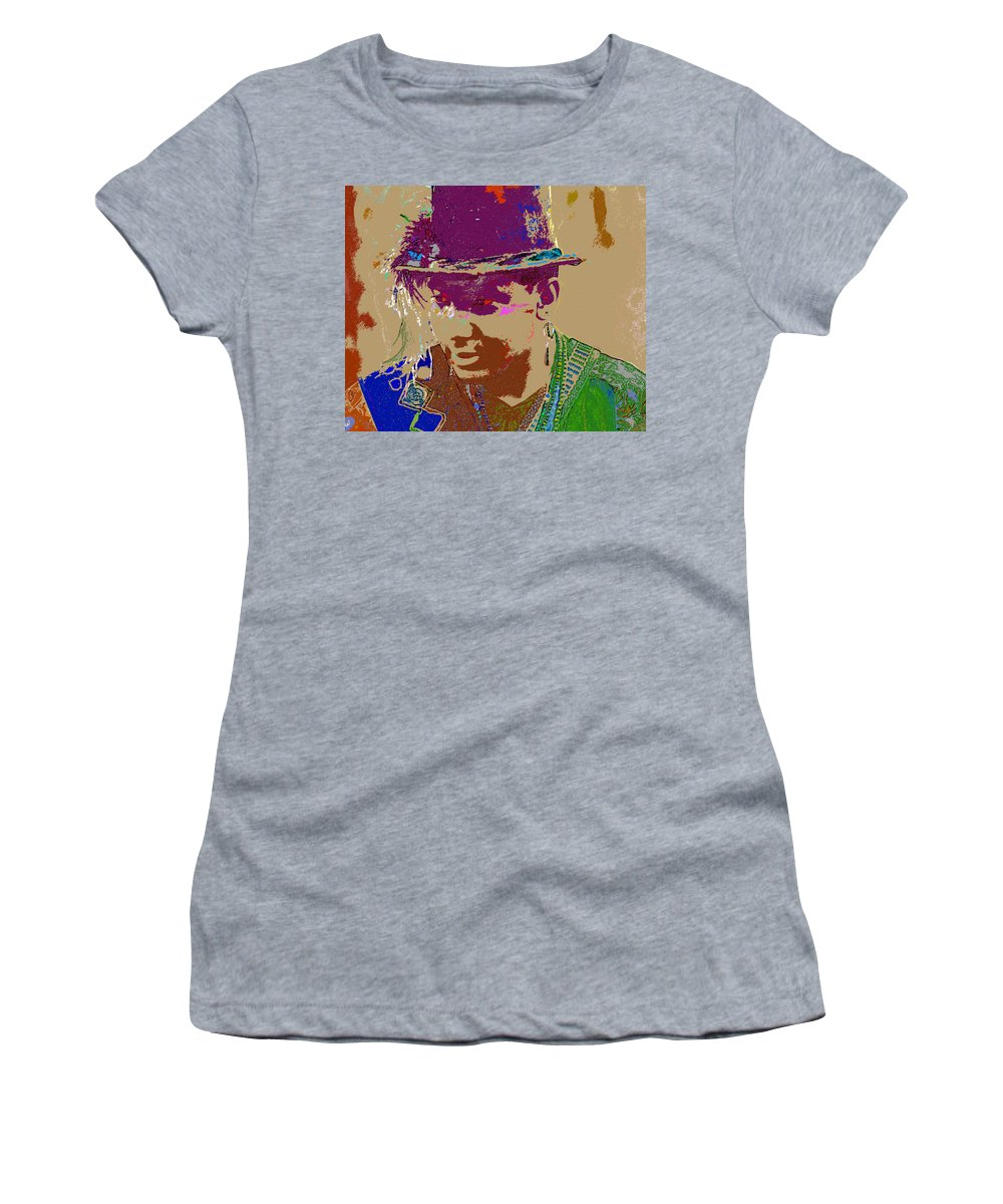 Snake Eyes Women's T-Shirt featuring the painting Snake Eyes by David Lee Thompson