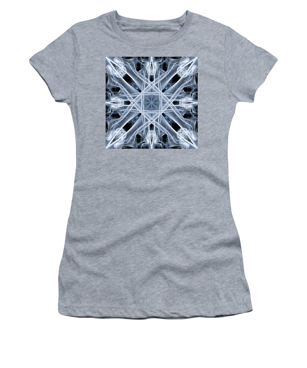 Smoking Trails Women's T-Shirt featuring the photograph Snowflake by Steve Purnell