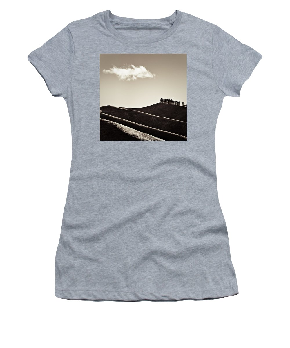 New Zealand Women's T-Shirt featuring the photograph Solitary Cloud by Dave Bowman