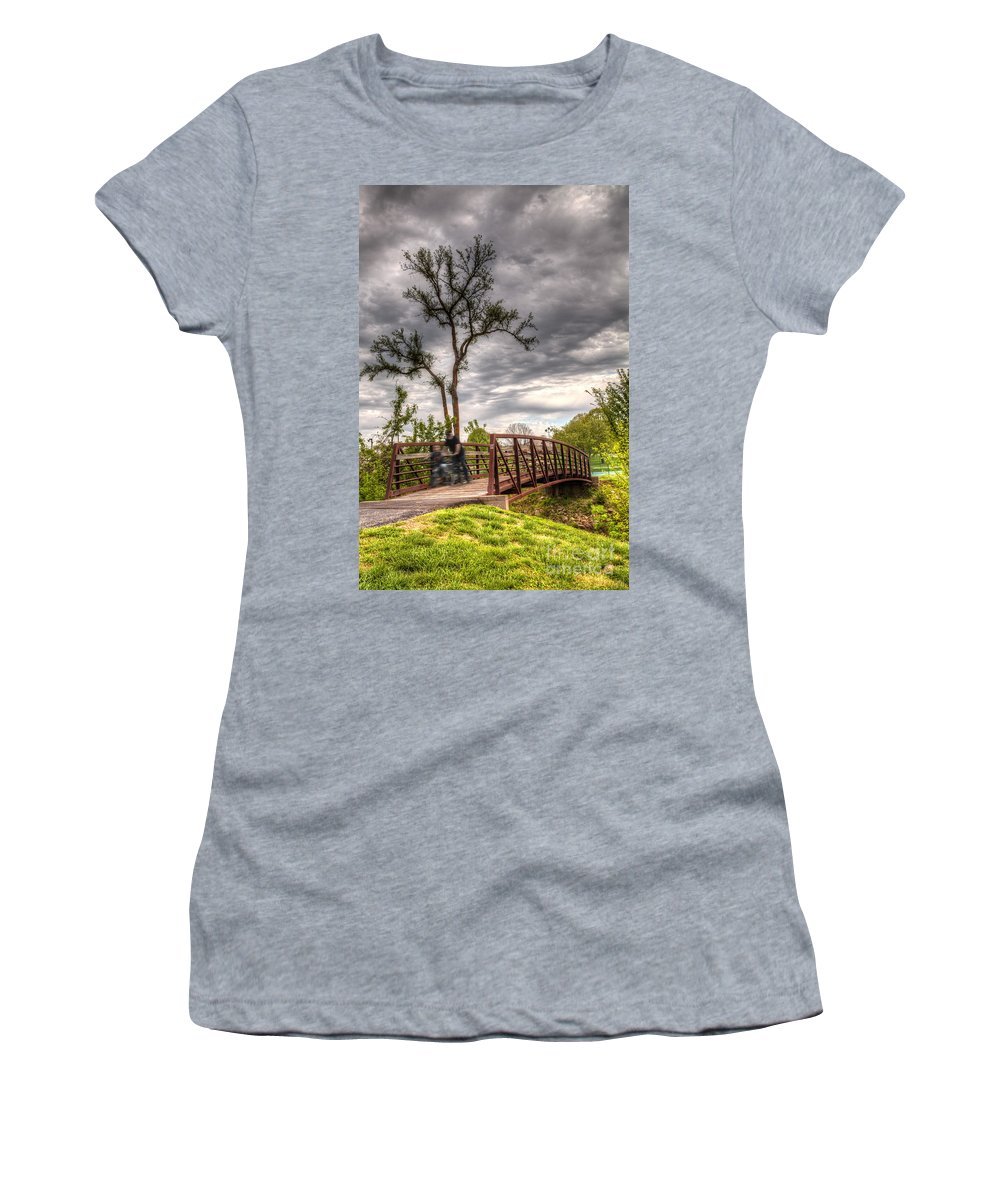 2014 Women's T-Shirt featuring the photograph Speed Thrills by Larry Braun