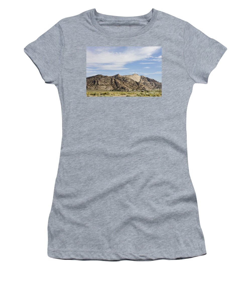 Wyoming Women's T-Shirt (Athletic Fit) featuring the photograph Split Rock Wyoming by Jason O Watson