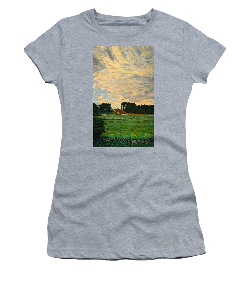 Landscape Women's T-Shirt featuring the painting Spread by Kenneth Cobb
