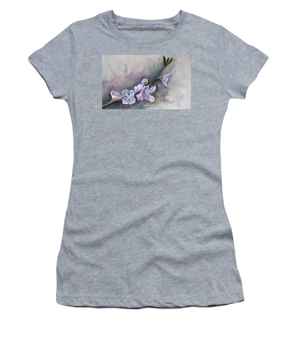 Rick Huotari Women's T-Shirt (Athletic Fit) featuring the painting Spring Splendor by Rick Huotari