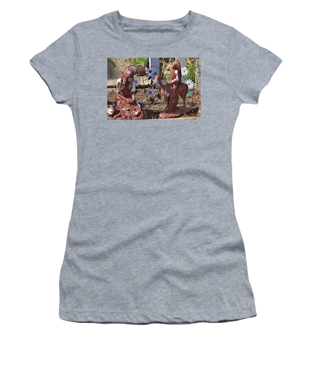 8182 Women's T-Shirt (Athletic Fit) featuring the photograph Squaw And Chief by Gordon Elwell