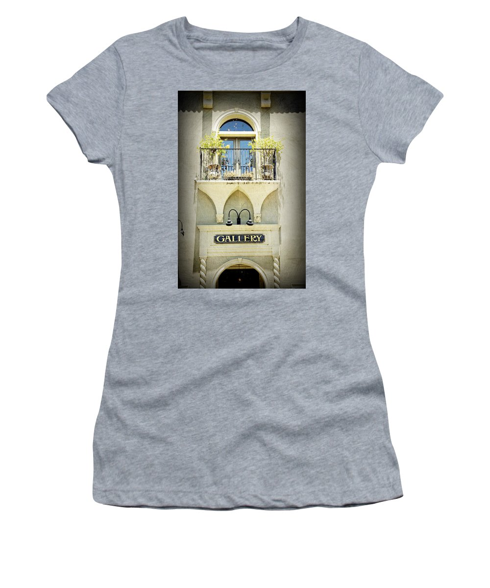 Gallery Women's T-Shirt featuring the photograph St. Augustine Gallery by Laurie Perry