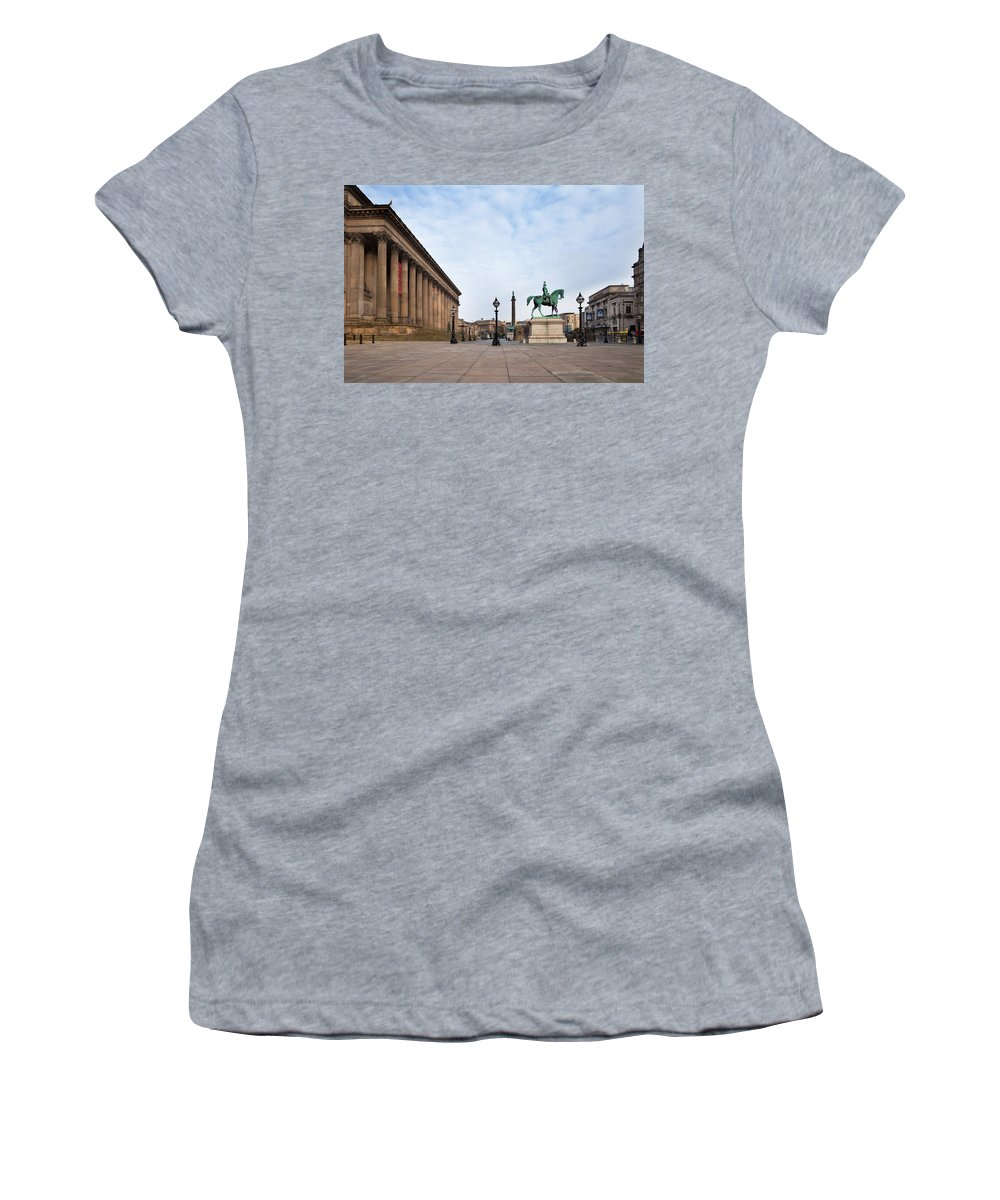 Photography Women's T-Shirt featuring the photograph St Georges Hall, Liverpool, Merseyside by Panoramic Images