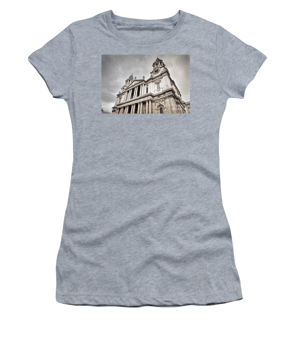 London Women's T-Shirt featuring the photograph St Pauls Cathedral In London Uk by Michal Bednarek