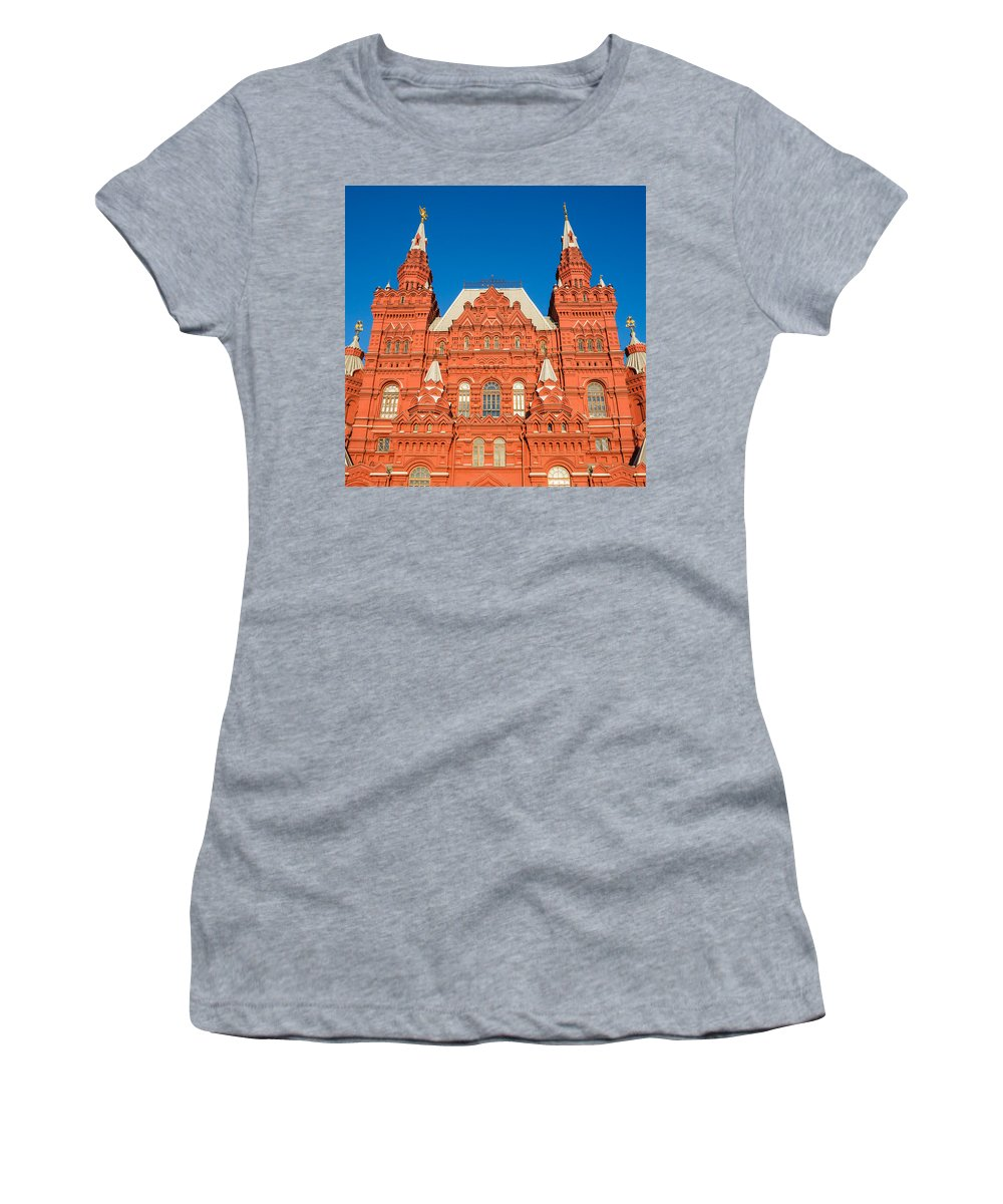 Architect Women's T-Shirt (Athletic Fit) featuring the photograph State Museum Of Russian History - Square by Alexander Senin