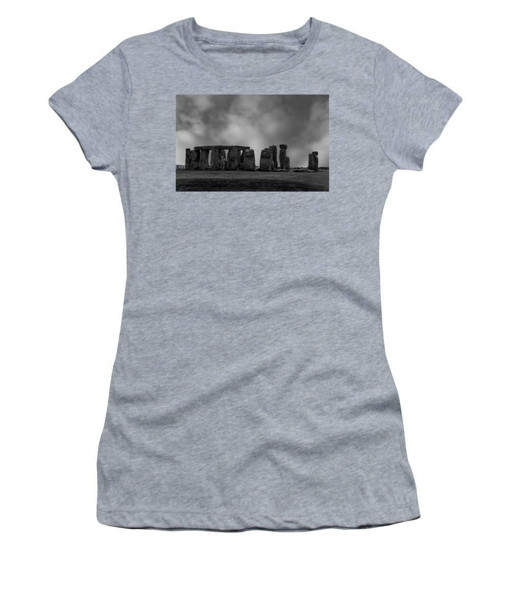 Stonehenge Women's T-Shirt (Athletic Fit) featuring the photograph Stonehenge by Martin Newman