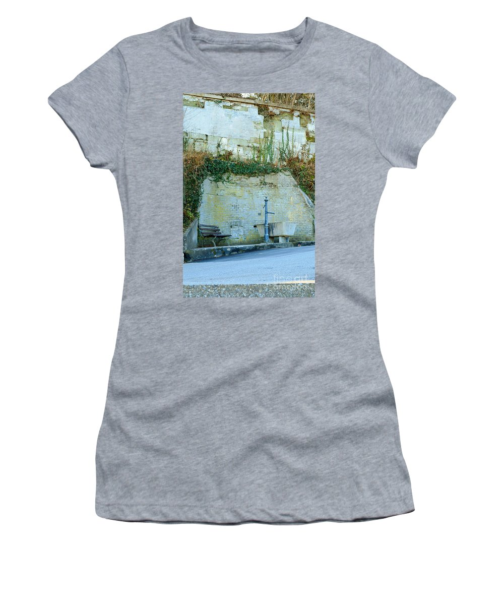 Wet Women's T-Shirt (Athletic Fit) featuring the photograph Stones And Water by Felicia Tica