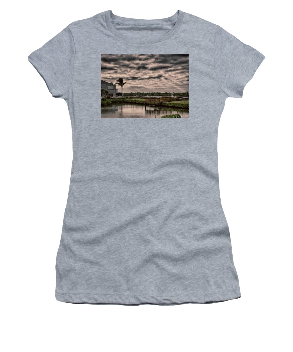 Landscape Women's T-Shirt featuring the photograph Storm A-coming by Fran Gallogly