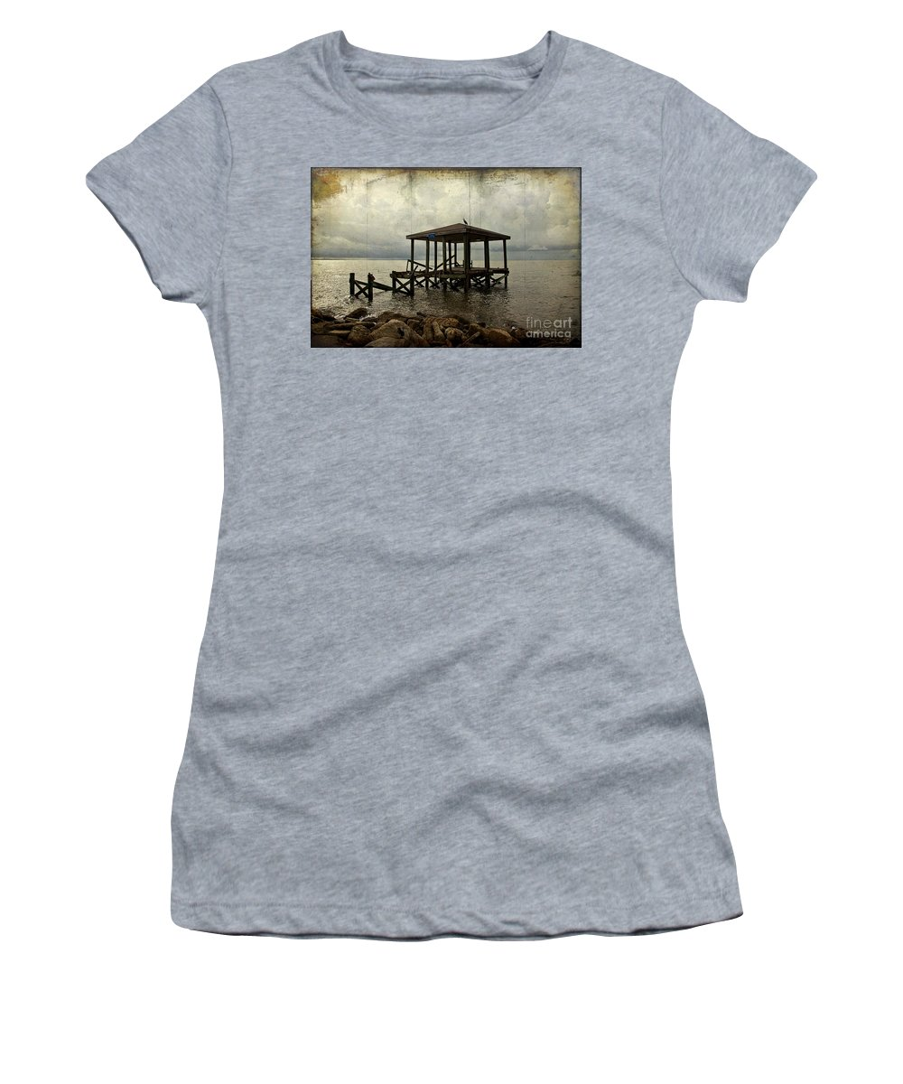 Coast Women's T-Shirt featuring the photograph Storm In The Distance by Joan McCool