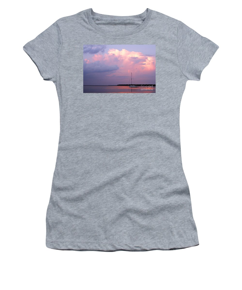 Photography Women's T-Shirt featuring the photograph Stormy Seas Ahead by Larry Ricker