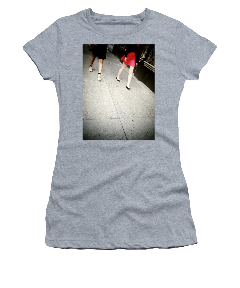 Street Women's T-Shirt featuring the photograph Strawberry Short Walk by The Artist Project